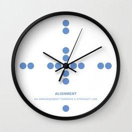 Design Principle TWO - Alignment Wall Clock
