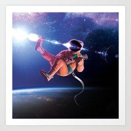 Space Uke  Art Print