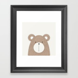 Cute Woodland Animals Baby Nursery Bear Framed Art Print