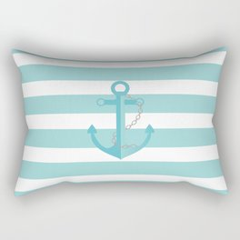 AFE Nautical Aqua Ship Anchor Rectangular Pillow