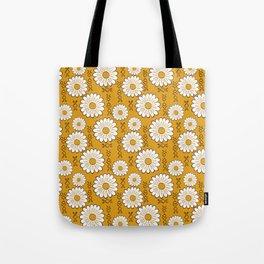 Harry Sunflower Shirt Flower Print Hippie Pop Art Floral Pattern Tote Bag