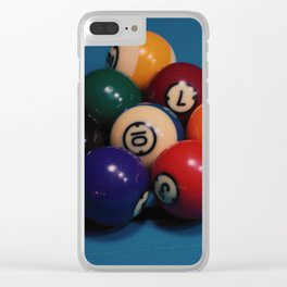 billiard balls Clear iPhone Case