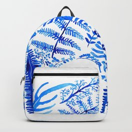 blue elephant watercolor Backpack