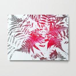 Ferns in Red Metal Print