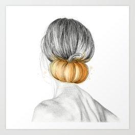 Halloween woman Art Print