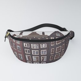 Traditional houses in Amsterdam Fanny Pack