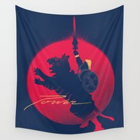 power Wall Tapestries featuring Power by Dega Studios