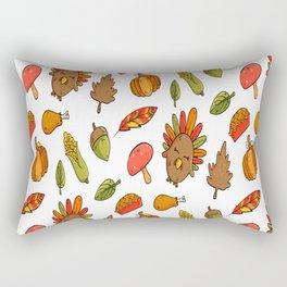 Thanksgiving Season Pattern Autumn Family Holiday Rectangular Pillow