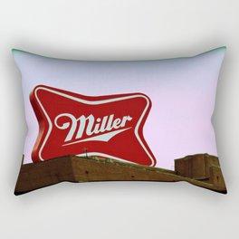 Miller Brewing Company Sign Milwaukee Wisconsin Rectangular Pillow