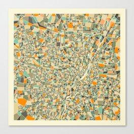Munich Map Canvas Print