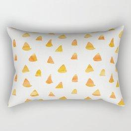 Geometrical orange yellow watercolor hand painted triangles Rectangular Pillow