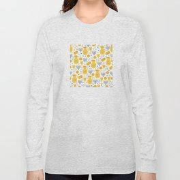 Hanukkah Traditions Pattern Long Sleeve T-shirt