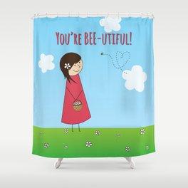You're Bee-utiful! Shower Curtain