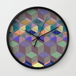 Cube Geometric V Wall Clock