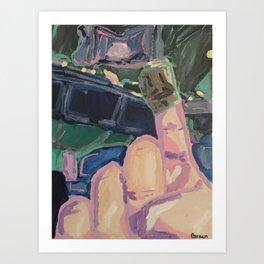 Mr. Bimble: Art Critic Art Print