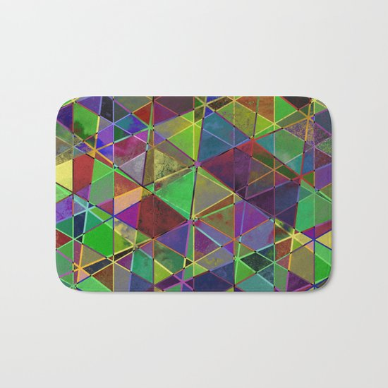 Tangled Triangles - Abstract, textured, geometric design Bath Mat