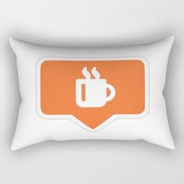 Coffee Like Instagram Rectangular Pillow