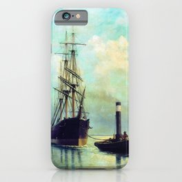 In The Gulf Of Finland 1881 By Lev Lagorio   Reproduction   Russian Romanticism Painter iPhone Case