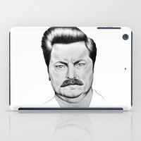 ron swanson iPad Cases featuring Ron Swanson by 13 Styx