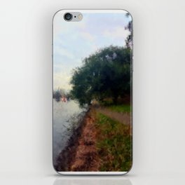 Beautiful Brisbane City - Botanic Gardens Digital Painting iPhone Skin