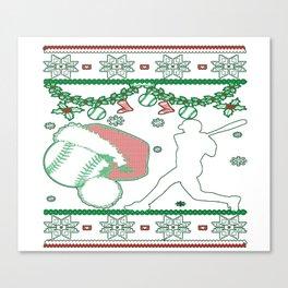 Softball Man Christmas Canvas Print