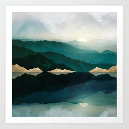 Waters Edge Reflection Art Print
