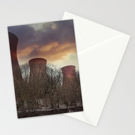 Sunset At Ironbridge Power Station Stationery Cards