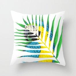 Parrot Palm Leaf Throw Pillow