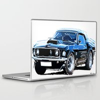 muscle Laptop & iPad Skins featuring american muscle  by Vector Art