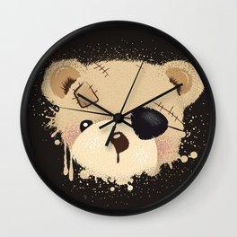 cute bear with eyepatch Wall Clock