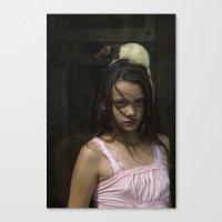 best friend Canvas Prints featuring Best friend by Carla Broekhuizen