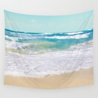 totes Wall Tapestries featuring The Ocean by Sharon Mau