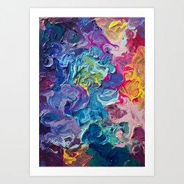 Aurora Swirls Art Print