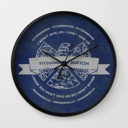 fitzsimmon BIATCH  Wall Clock