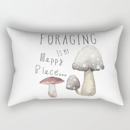 Foraging for mushrooms Rectangular Pillow