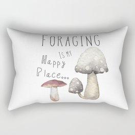 Foraging for mushrooms Rectangular Pillow