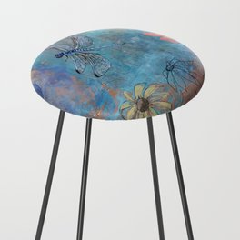 Dragonfly and Daymoon  Counter Stool