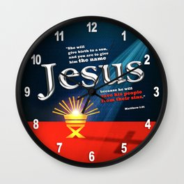 The Name Wall Clock