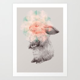 Techno-bunny Art Print