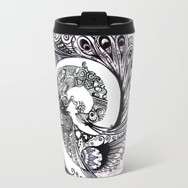 Peacock Spiral Travel Mug