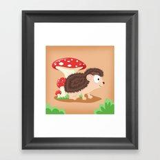 Woodland Animals Serie I. Hedgehog Framed Art Print