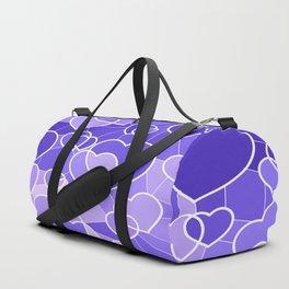 Lavender Hearts Duffle Bag