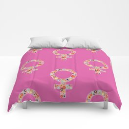 Fearless Female Pink Comforters