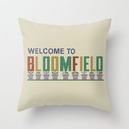 Welcome to Bloomfield Throw Pillow