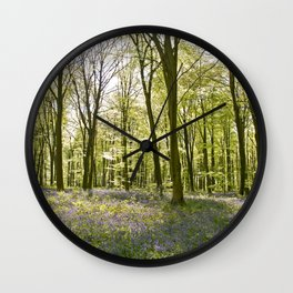 Bluebells of Micheldever Wood Wall Clock