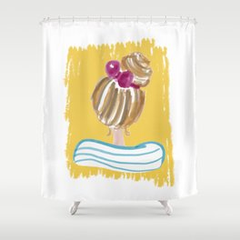Hair Bun #society6 #buyart Shower Curtain