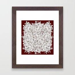 Rouge Puddle Framed Art Print