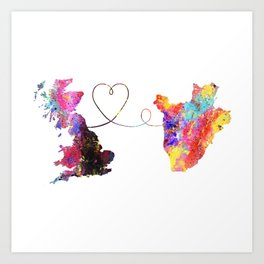 Britain to Burundi  Quote Art Design Inspirational Art Print