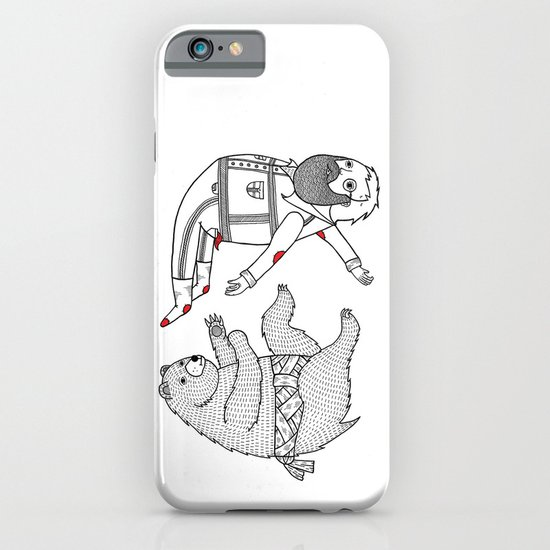 On the bear's uncontrollable urge to toss his master in the air iPhone & iPod Case