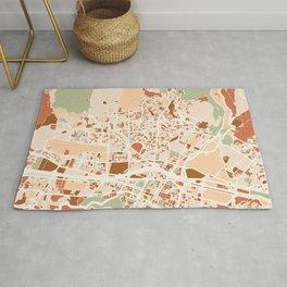 MEDELLIN COLOMBIA CITY MAP EARTH TONES Rug